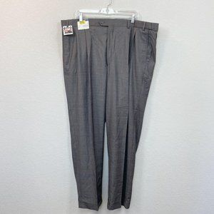 Roundtree & Yourke Easy Care Grid Plaid Dress Pant